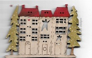 Houses Christmas Street  7cm wide
