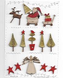 CHRISTMAS Button Sampler