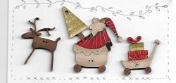 Santa has his hands full Mini button Sampler