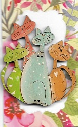 Bunch of Cats pastels