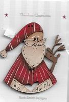 Santa & Deer Button