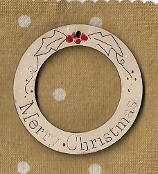 Merry Christmas Round 6cm decoration