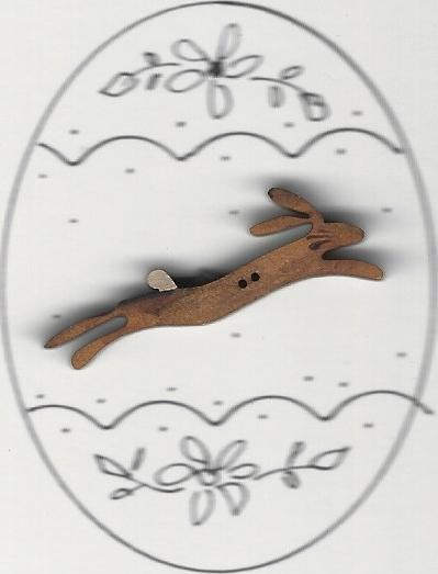 Running Brown Bunny in egg design