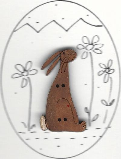 English Chocolate Bunny in egg design