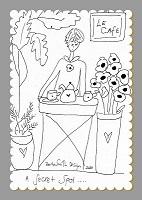 Cafe Secret Spot Illustrated Stitchery