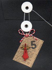 Black Envelope Red Bell motif