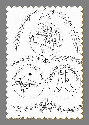 Christmas Medley Illustrated Stitchery