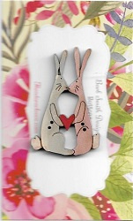 Bunny Love  pink & blue  4cm limited stock