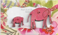 Elle Elephants Bright PINK Mum & Bub