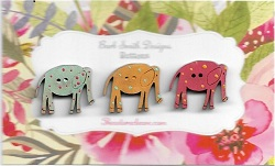 Elle Elephants 3 mini brilliant 15mm tall