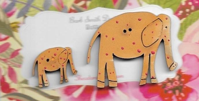 Elle elephants Yellow Mum & Bub