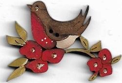 Robin in Blossoms