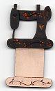 Black sewing Machine thread winder