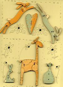 Giraffe & Bunnies set