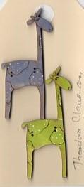 Giraffes Lime green & French blue