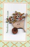 wheel barrow & pastel flowers