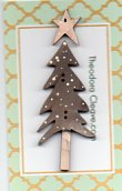 Big Grey Christmas tree & small white star