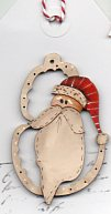 Jovial Santa  head in frame