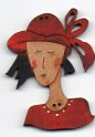 Red hat lady button