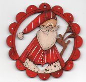 Take Me Santa red scalloped frame 78mm