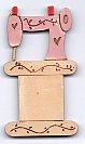 Pink sewing amchine thread winder