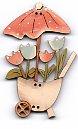 Tulip Barrow with Umbrella pastels