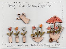 Planting Tulips Button set