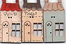 3 French Houses/shops