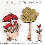 A Day In the Garden Button set