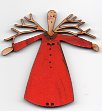 Twig Angel Button red