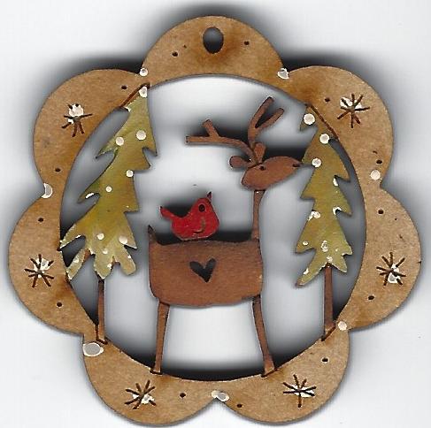 Mini Deer Friend decorations 4cm