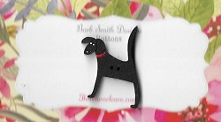 Woof Black dog 25mm