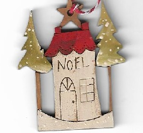 Noel Star House small decoration 5cm