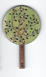 Paris Tree 7cm Button