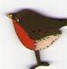 Robin Bird button
