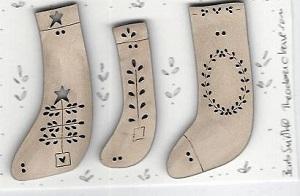 3 stockings White NEW