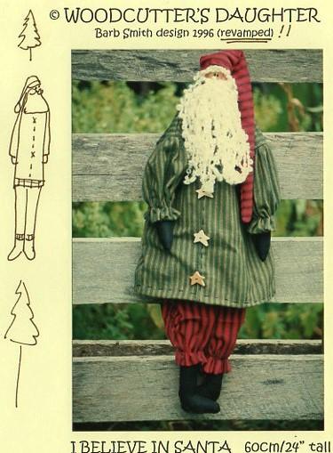 I Believe in Santa Cloth pattern