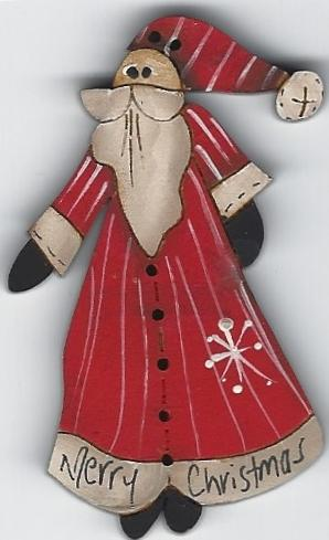 Santa Claus Button 6cm