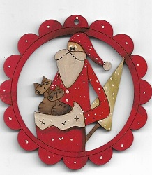 Santa & Cats in bag 78cm