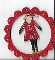 Christmas santa in scallop decoration