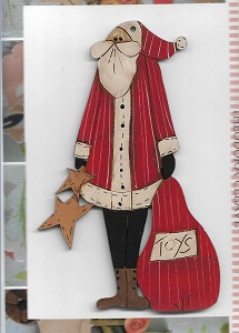 Santa with toy bag 8cm