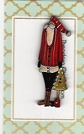 Santa & the tree button