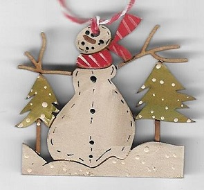 Forest Snowman small decoration 4.5cm