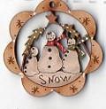 Snowmen Trio 4 cm deco