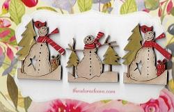 snow & parcels & snow & trees decos