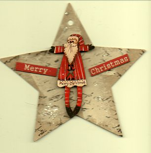Star deco Merry Star santa with signs