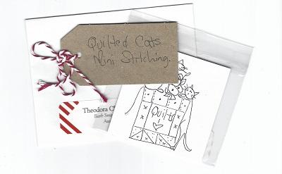 Mini Cat /Quilt stitchery