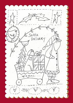 Santa & Dog trolley Christmas Sampler
