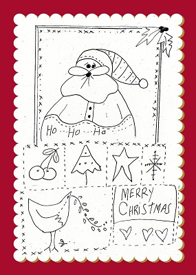 Santa & bird Christmas Sampler
