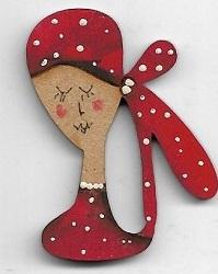 Sylvia Red brooch